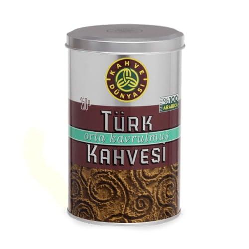 Medium gebrande Turkse koffie, kahve dunyasi 250 gr