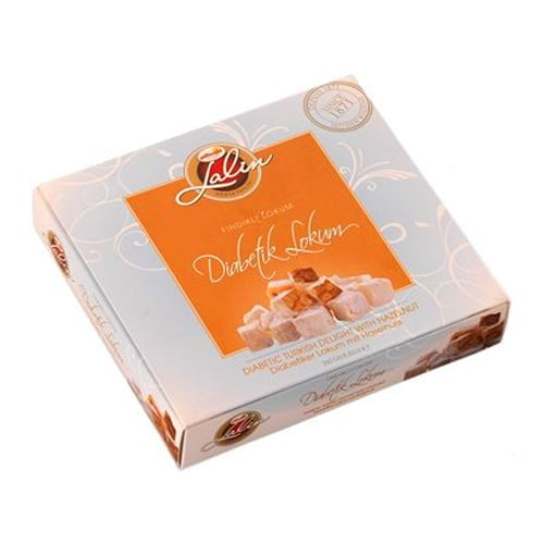 Faruk güllüoğlu diabetic turkish delight with hazelnut sugar free 250g (8. 82oz)