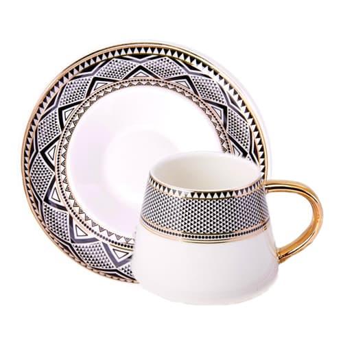 Turkse koffiekop porseleinen bol (set van 6)