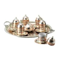 Turkish-Copper-Coffee-Set-Handcrafted-Miray-(Set-Of-6)