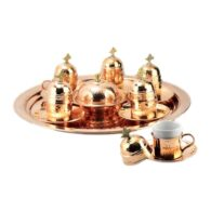 Turkish-Copper-Coffee-Set-Handcrafted-Nazik-(Set-Of-6)