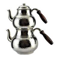 ابريق شاي تركي - نحاس - صناعة يدوية - بيازيد