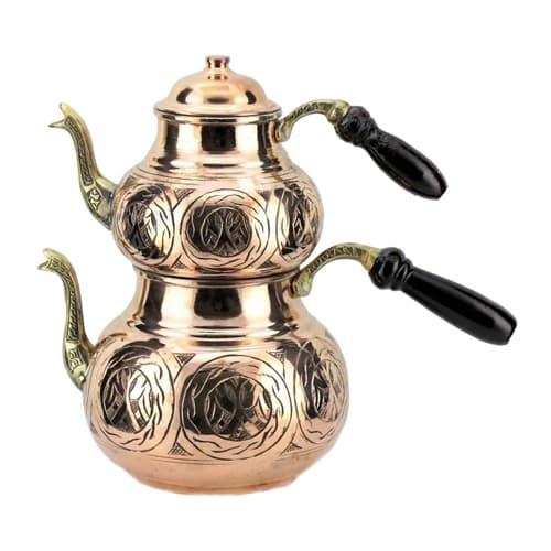 Turkish-copper-tea-pot-handcrafted-ottoman