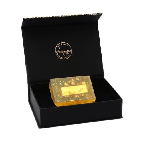 Turkish natural handmade golden soap %100 real 24 carat gold