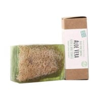 Turkish Natural Handmade Soap Aloe Vera With Organic Zucchini Fiber