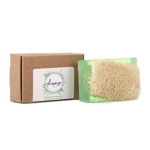 Turkse natuurlijke handgemaakte zeep Argan met biologische courgette vezels