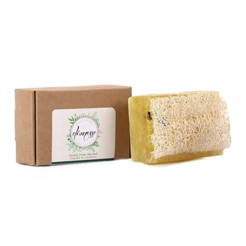 Turkish natural handmade soap daphne with organic zucchini fiber