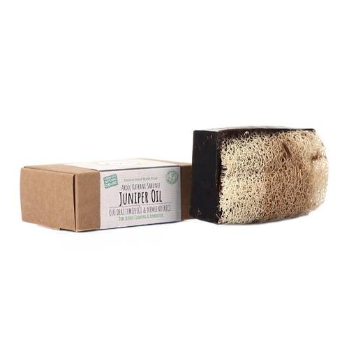 Turkish natural handmade soap juniper oil with organic zucchini fiber