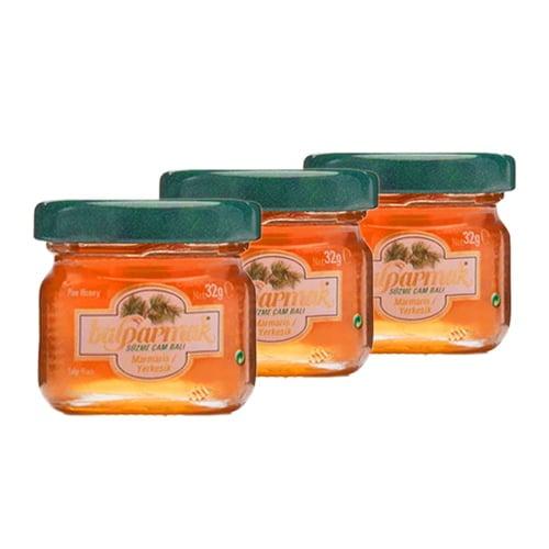 Turkish-pine-forest-honey-mini-jar-(24-x-32g)-balparmak