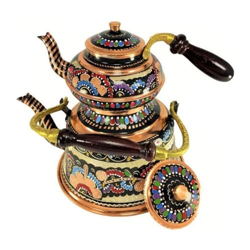 Handmade-embroidered-copper-teapot