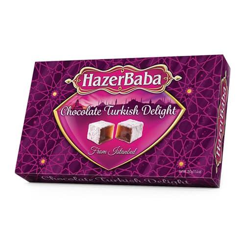 hazerbaba-तुर्की-delight- (lokoum)) - चॉकलेट 350g- (12.25oz)
