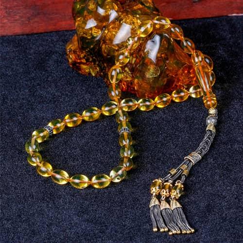 Сертифицированный-Beyzi-Cut-Has-Amber-Rosary