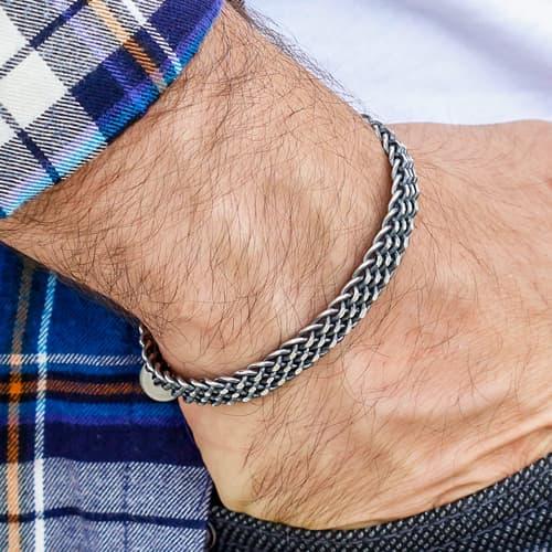 맞춤형 디자인 트렌드 모델 925-Sterling-Silver-Bracelet