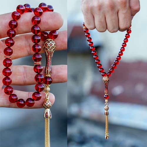 Fire-amber-rosary-with-custom-zircon-design