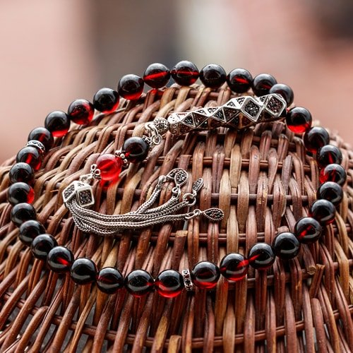 Special-Design-Night-Red-Fire-Amber-Rosary-2