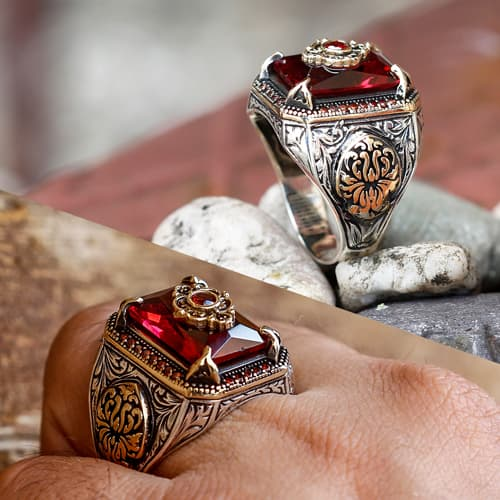 Stone-Claw-Design-Red-Sultan-Ring-China-Hersteller