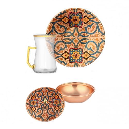 Dekorasi-6-pcs-Tembaga-Teh-Set-erb-c084