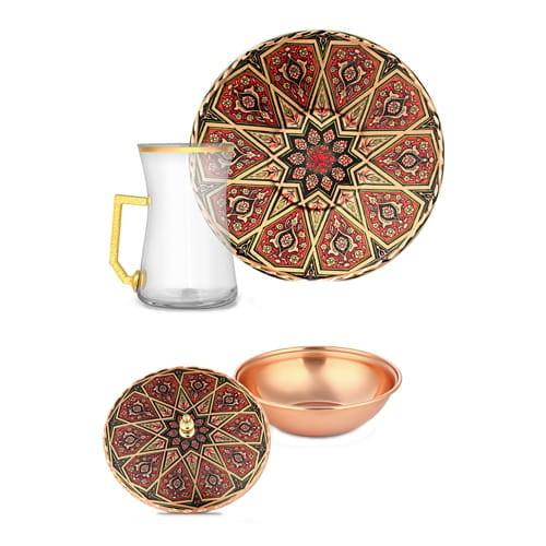Dekorasi-6-pcs-Tembaga-Teh-Set-erb-c090