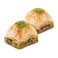 Baklava persegi Karakoy gulluoglu dengan pistachio
