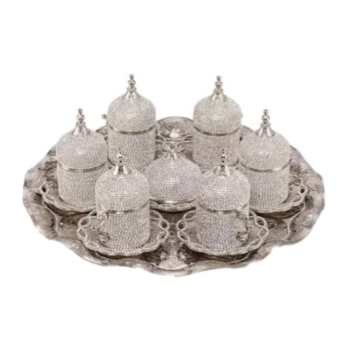 turco-juego-de-café-cristal-revestido-plata-comprar