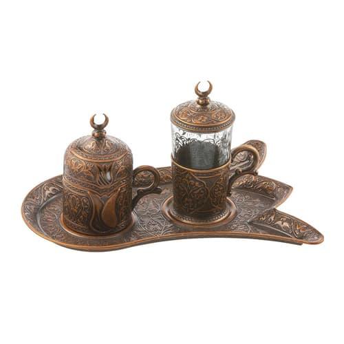 طقم قهوة تركي نحاسي بسعر واحد للشراء
