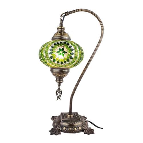 Demmex-Mosaik-desktop-hijau-kap lampu-Lampu-Malam-meja-kerja-Meja-Lampu