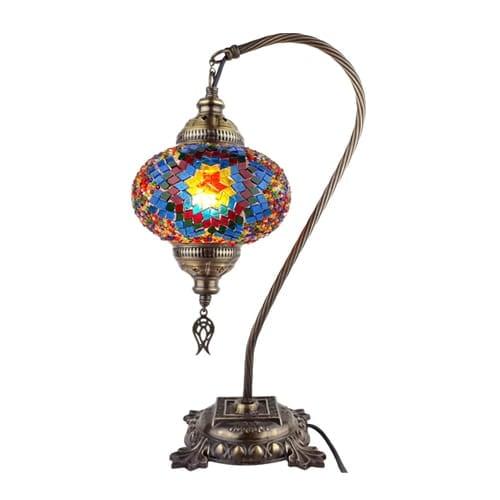 Demmex-Mosaico-escritorio-multicolor-pantalla-luz-noche-mesita-trabajo-mesa-lámpara