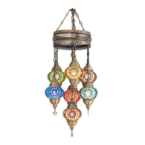 Demmex-Mosaic-lamp-7pcs-authentic-pendant-chandelier-colorful-pendant-chandelier-spiral-Pendant-Lamp