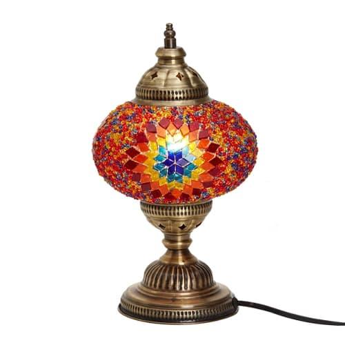 Demmex-Desktop-rout-Mosaik-Schaff-Dësch-Lampshade-Night-Light-Decor-Lamp
