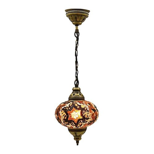 Large-authentic-ceiling-pendant-chandelier-mosaic-red-lamp-night-light