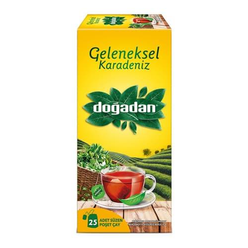 dogadan-Traditional-Black-Sea-Cup-Bag-Tea-25-чайный пакетик 50 г (1.76 унции)