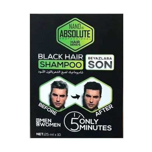 Nano-absolute-black-hair-shampoo-25-ml- (0,84oz) -10-pieces