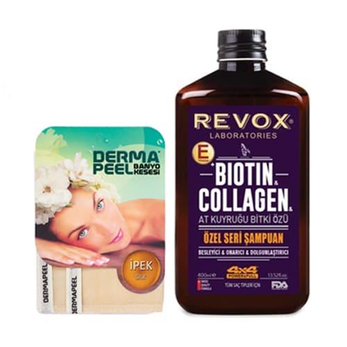 Revox-Ponytail-Biotin-Kollagen-Shampoing-an-Dermapeel-Seid-Gesiicht-Posch-400-ml- (13,52oz)