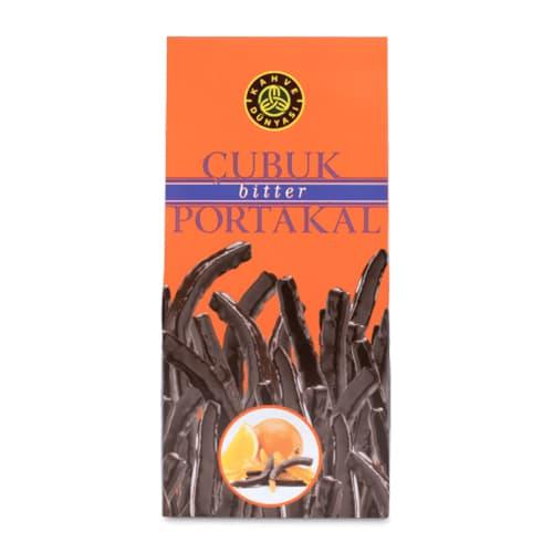Dunkle-schokoladenüberzogene-Stick-Orange-250g-8. 81 Unzen