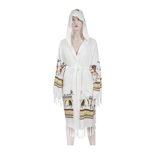 African-woman-in-loincloth-bathrobe-with-bamboo-printed-hoodie