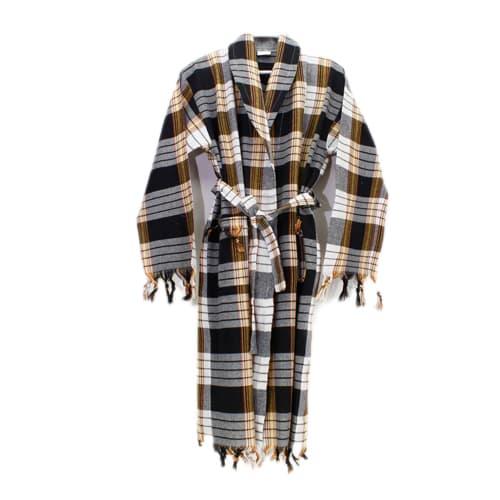 Classic-black-loincloth-bathrobe