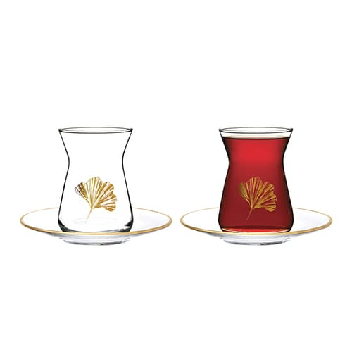 English-home-gingko-biloba-glass-12-piece-tea-set