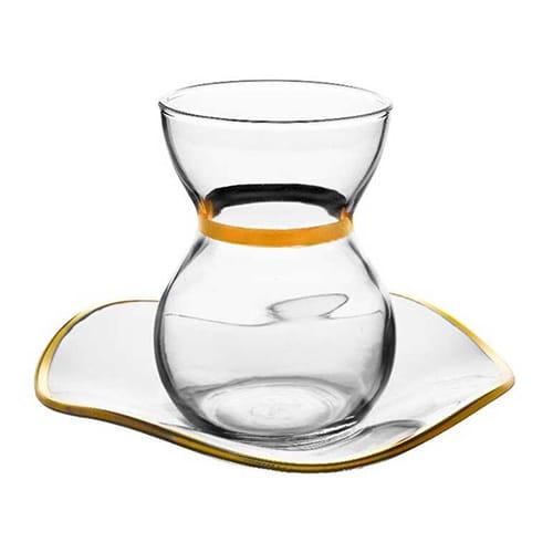Flamenco-tea-set-gold-set,-6-pieces