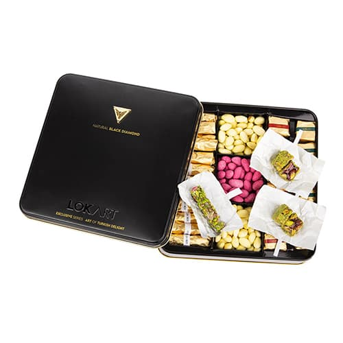 Premium-turkish-delight-box-with-real-black-diamond-brooch,-454g-–-16oz