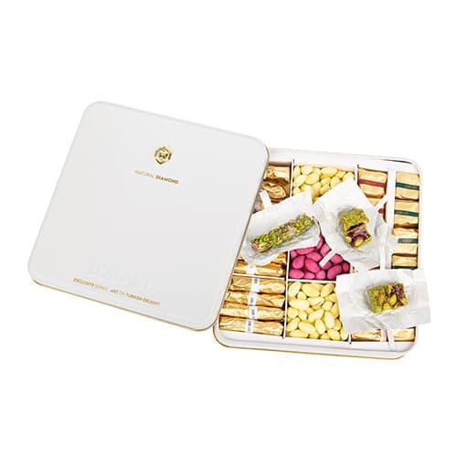 Premium-turkish-delight-box-with-real-diamond-brooch,-454g-–-16oz