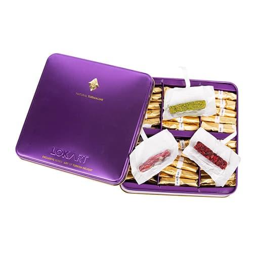 Premium-turkish-delight-box-with-real-turmaline-brooch,-lokart,-454g-–-16oz