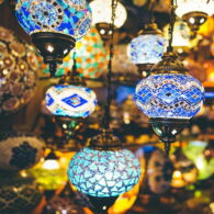 Mosaic Chandeliers And Ceiling Lamps