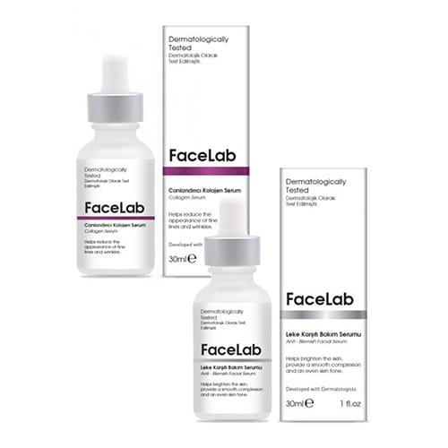 Facelab-anti-blemish-facial-serum,-30-ml-+-anti-aging-collagen-serum,-30-ml-1floz