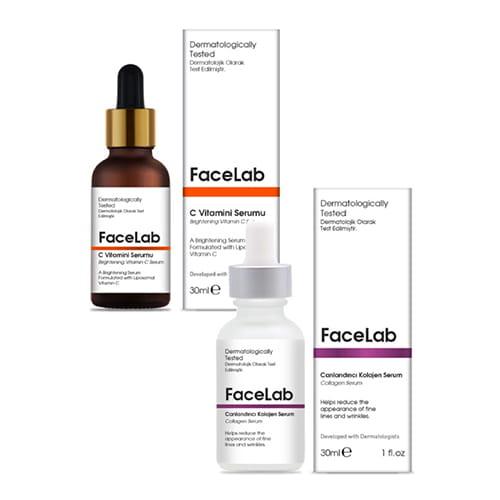 Facelab-brightening-vitamin-c-serum,-30-ml-+-anti-aging-collagen-serum,-30-ml-1floz