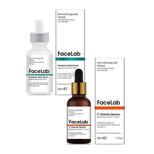 Facelab-brightening-vitamin-c-serum,-30-ml-+-regenerating-aha-peeling-serum,-30-ml-1floz