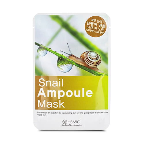 Hbmic-snail-extract-paper-face-mask,-25-ml-0,84floz