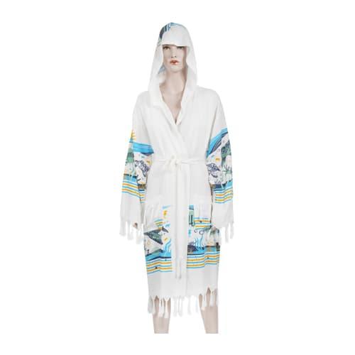 Loincloth-bathrobe-bamboo-printed-hooded-aquarium