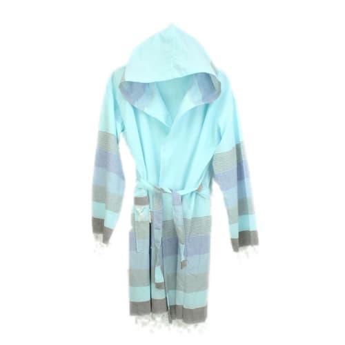 Loincloth-bathrobe-stripe-mint-green-brown
