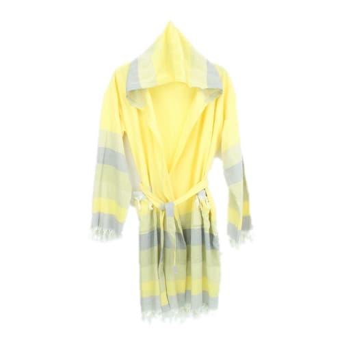 Loincloth-bathrobe-stripe-yellow-navy-blue-beige