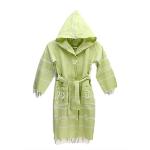 Loincloth-children's-bathrobe-loincloth-peanut-green-3-4-years-old